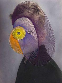 Maurizio Anzeri Giovanni  2009  Photographic print with embroidery  51 x 41 cm