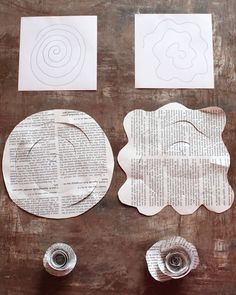 Paper Flowers, Book Pages??!!! What??? NO!!! limb branch tree diy create shabby chic paper rolling