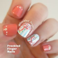 freckled_finger_nails #nail #nails #nailart