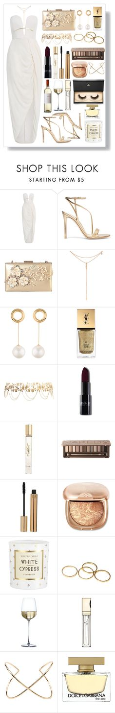 """Gold is Gold✨"" by fashioneex ❤ liked on Polyvore featuring Zimmermann, Gianvito Rossi, Rimen & Co., Tacori, Joanna Laura Constantine, Yves Saint Laurent, Forever 21, Urban Decay, Clarins and Dolce&Gabbana"