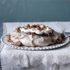 Cocoa and brown sugar lend this meringue a denser, moister, creamier texture than usual.
