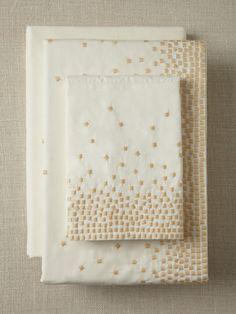 Kelly Wearstler for Sferra Embroidered Squares Sheet Set