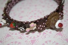 This adorable, cuties and delicious hair accessories is handmade, sculpted by me is covered whip cream deco den and embellished with different polymer clay charms, they are from my new Gitana's Yummies collection, check others delicious items in my shop. This is a unique sweet treat and the best part is non preservative, non calories and is fat free. :)