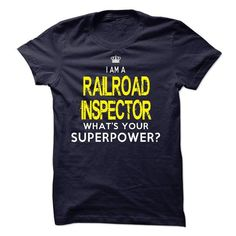 Im A/An RAILROAD INSPECTOR - #gift for friends #food gift. LIMITED AVAILABILITY => https://www.sunfrog.com/LifeStyle/Im-AAn-RAILROAD-INSPECTOR-18616691-Guys.html?68278