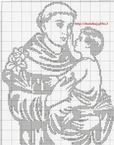 He tried to cover up his brilliant intellect. patron saint f lost articles , he hailed from Lisbon, Portugal , great Franciscan saint, Feast day June Anthony of Padua Filet Crochet, Crochet Round, Crochet Chart, Blackwork Patterns, Doily Patterns, Crochet Patterns, Quilt Stitching, Cross Stitching, Cross Stitch Embroidery