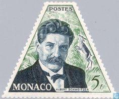 Stamps - Monaco - Schweitzer, Albert 1955