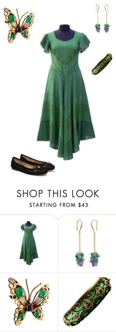 """""""Maybelle's Outfit for Audrianna's Baby Shower"""" by thesassystewart on Polyvore featuring NOVICA, Van Cleef & Arpels and Sam Edelman"""