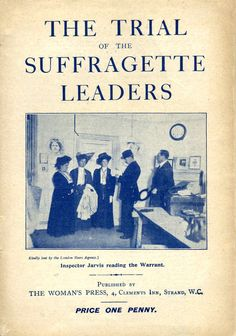 Cover-of-Suffragette pamphlet, cat. ref. PRO 30/69/1834, The National Archives