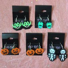 Halloween hama perler bead earrings by ZoZoTings