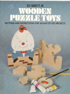 Vintage Wooden Puzzle Toys Pattern Book by Ed by cafedestash