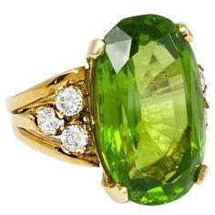 A Peridot and Diamond Ring via 1stDibs @ReinaIndy