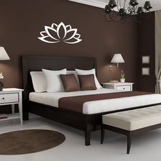 Gorgeous brown tones with a vinyl wall decal