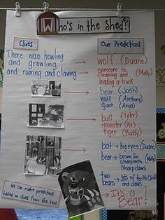 I love the fact that photocopies of pictures from the book are used...great way to teach students how to predict!