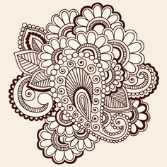 Paisley+Vector | and paisley vector illustration 03 442x442 Flowers and paisley vector ...