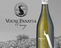 Vouni panayia winery new identity. Promara label design