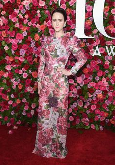 Rachel Brosnahan wearing Dolce&Gabbana at the 72nd Annual Tony Awards on June 10th, 2018 in New York City.  #DGCelebs #DGWomen