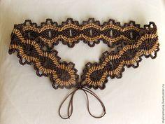 """Пояс """"Древо жизни"""" - коричневый,орнамент,широкий пояс,пояс женский,пояс ручной работы"""