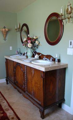 DIY Bathroom Vanity How To Repurpose Old Furniture In A Bathroom - Diy double sink vanity