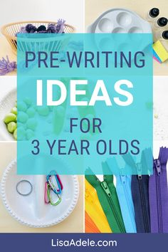 Pre-Writing Ideas for 3 Year Olds Learning at Home