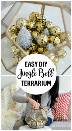 DIY Jingle Bell Terrarium | Jingle Bell DIY | DIY Christmas Terrarium from Hello Splendid | www.hellosplendid.com