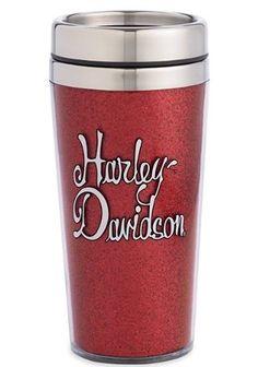 Harley-Davidson® Glitter Travel Mug. 96981-13V