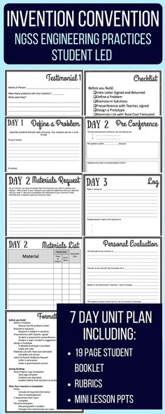 Middle School NGSS Aligned Engineering 7 Day No Prep Project Guide. Includes parent letter, student packet, and rubrics. Great for any STEM classroom! Science Activities For Kids, Science Fair Projects, Science Resources, Science Classroom, Teaching Science, Science Ideas, Stem Activities, Science Chemistry, Teaching Ideas