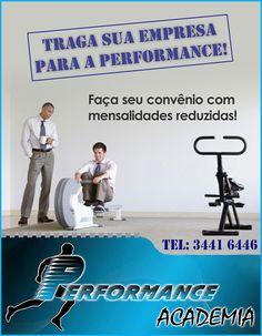 Anúncio para Academia Performance.