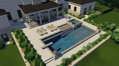 Backyard Pool Landscaping, Small Backyard Pools, Backyard Patio Designs, Swimming Pools Backyard, Swimming Pool Designs, Small Pools, Outdoor Pool Areas, Infinity Pool Backyard, Backyard Pool And Spa