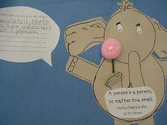 Dr. Suess, Horton Hears a Who, lesson activity.