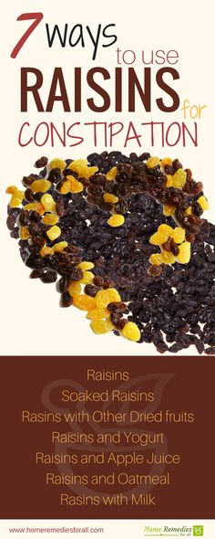 Use raisins to relieve constipation effectively and quickly