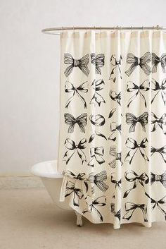 Bow shower curtain