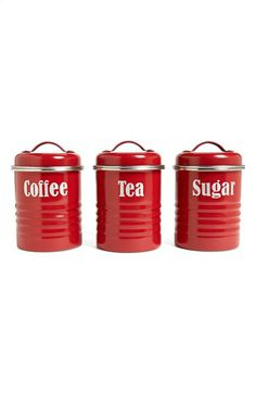 Love The Red Canisters | Decorating Ideas And Techniques To Try | Pinterest  | Red Canisters, Kitchen Canisters And Canister Sets
