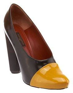 Louis Vuitton Lv Ombre Cap Toe Brown & Yellow Pumps
