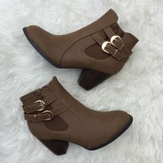 Taupe Fall Booties