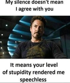 Tony Stark is one of the coolest superhero from Marvel comics. If you are searching for tony stark quotes then we bring you the best 35 tony stark quotes. Funny Marvel Memes, Marvel Jokes, Dc Memes, Real Life Quotes, Badass Quotes, Reality Quotes, Really Funny Memes, Funny Relatable Memes, Funny Jokes