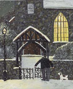 Blunt Art, Janet Hill, Winter's Tale, English Countryside, Moon Art, Winter Landscape, Dog Walking, Christmas Inspiration, Cute Art