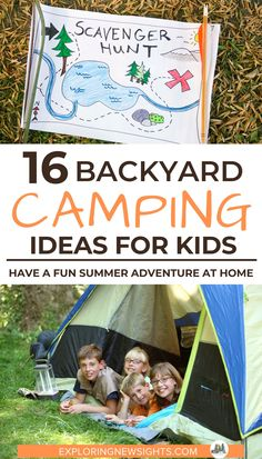Backyard camping with family is a great way to make new memories. Check out these 18 tips on things you can do to make it fun for all ages. Camping Games Kids, Camping With Kids, Camping Ideas, Diy Camping, Adventure Games For Kids, Camping Party Activities, Adventure Camp, Camping Theme, Summer Activities