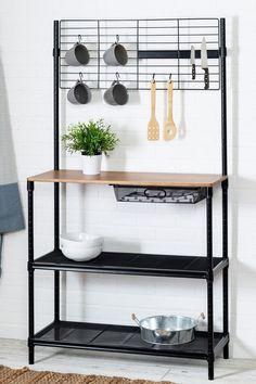 Garage Wall Shelving, Kitchen Wall Storage, Kitchen Rack, Kitchen Shelves, Glass Shelves, Kitchen Cabinets, Kitchen Design, Kitchen Decor, Kitchen Ideas