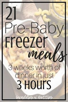 Pre-Baby Meal Prep- 21 Freezer Meals to Make. Make ahead meals to freeze for when baby arrives. Crock pot dump meals and freezer casseroles. meals make ahead crock pot Pre-Baby Meal Prep- 21 Freezer Meals to Make Make Ahead Freezer Meals, Crock Pot Freezer, Freezer Cooking, Meals Good For Freezing, Crock Pot Dump Meals, Freezer Dinner, Freezer Friendly Meals, Meal Prep Freezer, Best Meals To Freeze