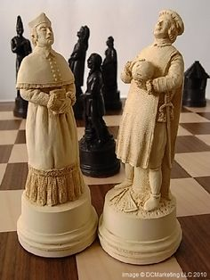 We have high quality historical chess sets at great prices. Our theme chess sets are the result of the highest quality craftsmanship. You will find great deals on our beautiful chess sets. Wooden Chess Board, Chess Boards, High Priest, Christopher Columbus, Chess Pieces, Dark Wood, Wood Carving, Chess Sets, Models