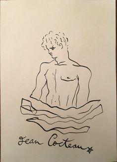 Jean Cocteau Sketch 2, Drawing Sketches, Drawings, Milly La Foret, Jean Cocteau, Jacquemus, Multimedia Artist, Photoshop, Illustration Art