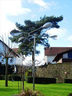 Kinetic Art Tree in wind