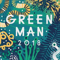 """Illustrating Green Man Festival a """"playful world for adults. Looking hand painted to resemble childish element yet layered to create depth with colour. Festival Logo, Festival Posters, Art Festival, Festival Background, Branding, Logo Color, Colour, Green Man, Graphic Design Illustration"""
