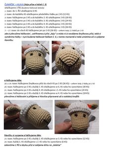 Ovečka | Návody na háčkované hračky Crochet Doily Patterns, Crochet Patterns Amigurumi, Baby Knitting Patterns, Crochet Doilies, Baby Patterns, Stitch Patterns, Crochet Gifts, Crochet Toys, Crochet Baby