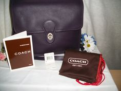 •°•°• Elegant and Perfectly Purple Genuine Coach Tote•°•°•