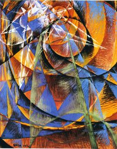Giacomo Balla Mercury Passing Before the Sun (Mercurio transita davanti al sole), 1914 Tempera on paper lined with canvas, 120 x 100 cm