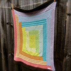Big Bad Wool Weepaca Wonky Log Cabin Baby Blanket/Throw Knitting Pattern