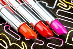 Maybelline Limited Edition Color Goes Electric Collection: Orange Edge, Pop of Cherry and Electric Fuchsia