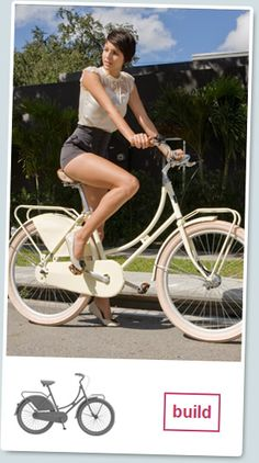 I love the outfit & I want that to stroll down the boardwalk with that bike!