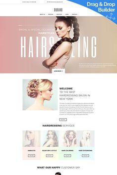Beauty & Hair Salon Moto CMS 3 Template #66360